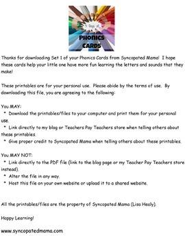 Syncopated Mama Phonics Cards Set 1