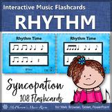 Rhythm Flashcards {Syncopation Syncopa} Interactive Rhythm Flash Cards