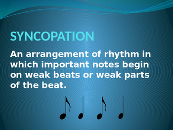 Syncopation Powerpoint