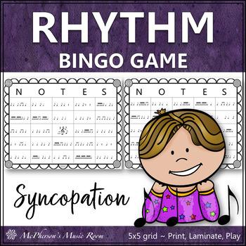 Syncopation Rhythm Bingo Game (syncopa)