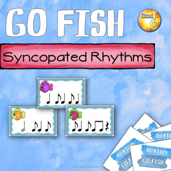 Syncopation Rhythm Go Fish! - music center & sub activity