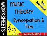 Syncopation & Ties Worksheet