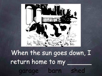 Synonym Lesson Farm Stories 1st 2nd DEAF Hearing Impaired ESL SPED