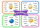 Synomyns Wordmat for Good and Bad Feelings