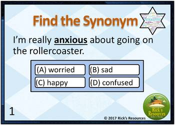 Synonym Cards - Digital and Printable Versions Included
