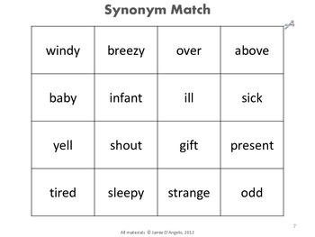 Synonym Activity Guide