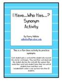 "Synonym Activity ""I Have...Who Has...?"""