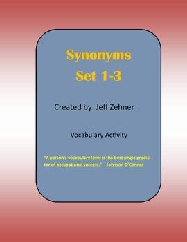 Synonym Activity (Set 1-3)