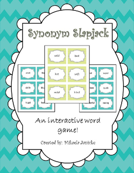 Synonym Activity: Synonym Slapjack Game