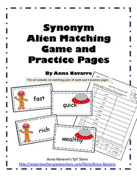 Synonym Alien Matching Game