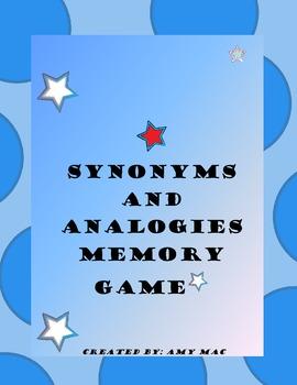 Synonym Analogies Memory Game