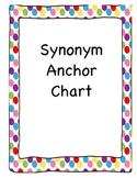 Synonym Anchor Chart - Polka Dots