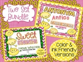 "Synonym & Antonym Bundle  ""I Have,Who Has"" Cards  BOTH Color & Print-Friendly"