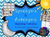 Synonym & Antonym File Folder Matching Activities and Worksheet