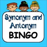Synonym & Antonym Game: BINGO