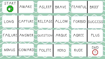 Synonym/Antonym Dominoes Bundle (Modifications for ESE and ELLs)