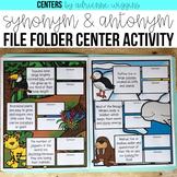 Synonym Antonym File Folder Center