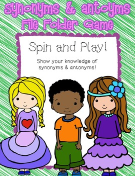 Synonym & Antonym File Folder Game