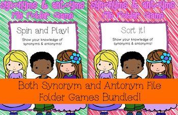 Synonym & Antonym File Folder Game Bundle