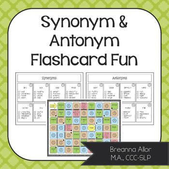 Synonym & Antonym Flashcard Fun