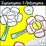 Synonym Antonym Spring Craftivity Bundle - Use with INBs or as ELA Sort