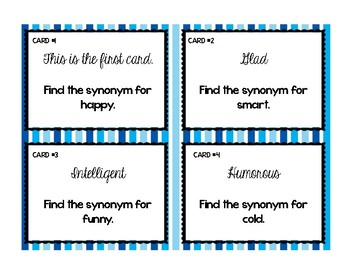 Synonyms & Antonyms Games For Mini-Lessons, Reading Centers, or Review