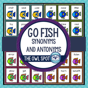Synonym Antonym Go Fish Vocabulary Game