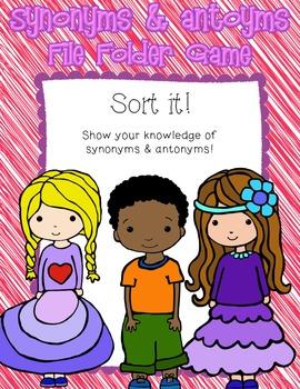 Synonym & Antonym File Folder Sort