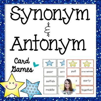 Synonym Antonym Match-Up Game