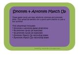 Synonym & Antonym Match Up Game