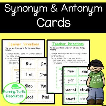 Synonym and Antonym Cards