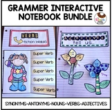 Synonym Antonym Noun Verb Adjective Interactive Notebook Bundle