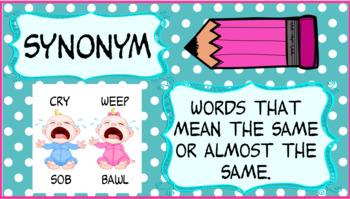 Synonym & Antonym Pack -  No Prep