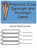 Synonym Antonym Popsicle Stick Game
