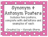 Synonym & Antonym Posters