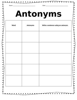 Synonym Antonym Quick Center