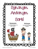 Synonym Antonym Sort (File folder game)