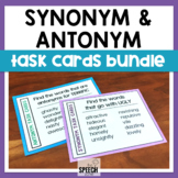 Synonym & Antonym Task Cards Bundle