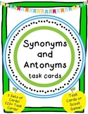 Synonym & Antonym Task Cards with Reference Material Practice!
