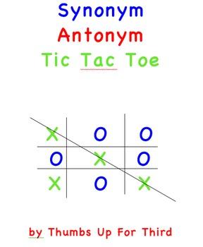 Synonym Antonym Tic Tac Toe