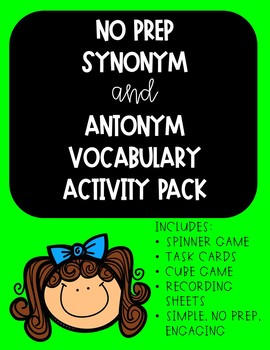 Synonym & Antonym Vocabulary Pack