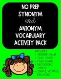 Synonym & Antonym Vocabulary Pack