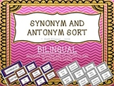 Synonym Antonym Word Sort Game