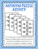 Synonym & Antonym Bundle - Activities, Practice, Assessment - Grades 2, 3, 4