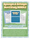 Synonym & Antonym Bundle - Activities, Practice, Assessment - Grades 2, 3, 4