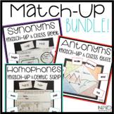 Synonym, Antonym, & Homophone Match-Ups and Activities BUNDLE!