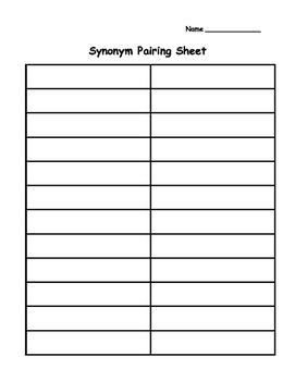 Synonym, Antonym, and Homophone Pairing Packet