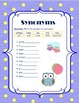 Synonym & Antonyms Charts and Sort