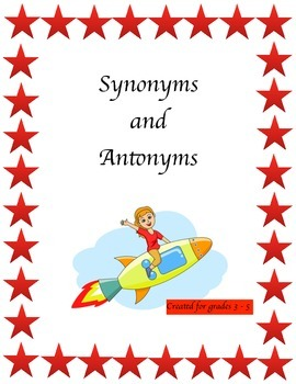 Synonyms and antonyms rubric teaching resources teachers pay teachers synonym antonyms shooting for the stars m4hsunfo