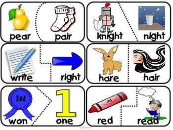 Synonym, Antonyms and Homonyms/Homophones Puzzle Bundle